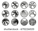 circles with cross linking... | Shutterstock .eps vector #670226020