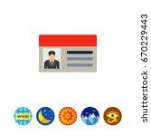 driver license icon | Shutterstock .eps vector #670229443