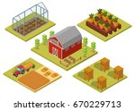 isometric big set infographics... | Shutterstock .eps vector #670229713