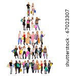 group crowd diversity | Shutterstock . vector #67023307