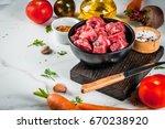 Meat  Beef. Fresh Raw Chopped...