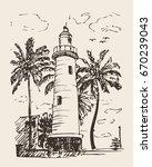 hand drawn illustration of... | Shutterstock .eps vector #670239043