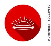 ufo flying saucer icon isolated ... | Shutterstock .eps vector #670239550