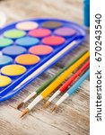 special painting tools on... | Shutterstock . vector #670243540