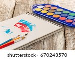 watercolor painting  special... | Shutterstock . vector #670243570