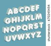3d font. alphabet letters....