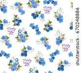 vintage seamless  pattern with... | Shutterstock . vector #670248886