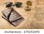 planning travel concept ... | Shutterstock . vector #670252693