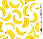 yellow banana seamless pattern. ... | Shutterstock .eps vector #670258798
