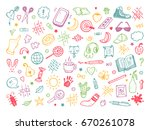 back to school. different... | Shutterstock .eps vector #670261078
