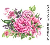watercolor bouquet with little... | Shutterstock . vector #670261726