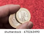 new turkish 1 lira coins for... | Shutterstock . vector #670263490