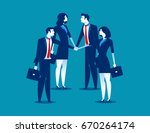 business team with their hand... | Shutterstock .eps vector #670264174