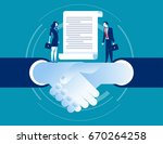 agreement of business. concept... | Shutterstock .eps vector #670264258