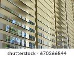 window to a suburban back yard... | Shutterstock . vector #670266844