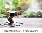 coins saving for study concept  ... | Shutterstock . vector #670266904