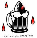 illustration of beer mug from... | Shutterstock . vector #670271398