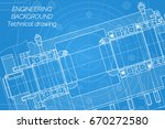 mechanical engineering drawings ... | Shutterstock .eps vector #670272580