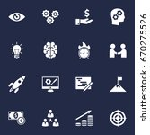set of 16 strategy icons set... | Shutterstock .eps vector #670275526