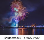 firework celebrations for... | Shutterstock . vector #670276930