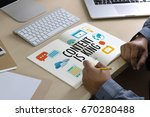 content is king seo search... | Shutterstock . vector #670280488
