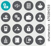 set of 16 budget icons set... | Shutterstock .eps vector #670284253