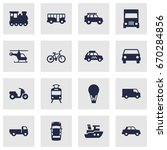 set of 16 shipping icons set... | Shutterstock .eps vector #670284856