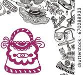 beautiful handbag. vector... | Shutterstock .eps vector #670288933