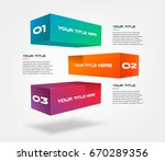 3d blocks infographics step by... | Shutterstock .eps vector #670289356
