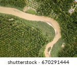 aerial view   palm oil... | Shutterstock . vector #670291444