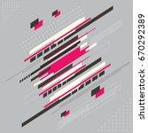 abstract technology modern...   Shutterstock .eps vector #670292389