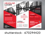 business brochure. flyer design.... | Shutterstock .eps vector #670294420