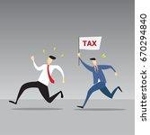 business man is running away... | Shutterstock .eps vector #670294840