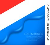 Luxembourg Flag On Creamy...