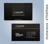 business card design templates  ... | Shutterstock .eps vector #670309666