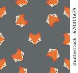fox head pattern | Shutterstock .eps vector #670311679