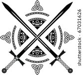 fantasy swords. fourth variant. ... | Shutterstock .eps vector #67031626