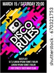 disco rules music poster  music ... | Shutterstock .eps vector #670321753