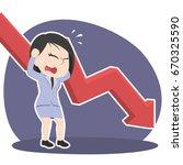 asian businesswoman in panic... | Shutterstock . vector #670325590