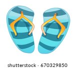 slippers for the beach  slates  ... | Shutterstock .eps vector #670329850