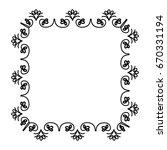 elegant victorian style frame | Shutterstock .eps vector #670331194