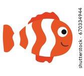 cute ornamental fish icon | Shutterstock .eps vector #670334944