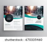 annual report brochure flyer... | Shutterstock .eps vector #670335460