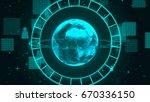 abstract technology network... | Shutterstock . vector #670336150