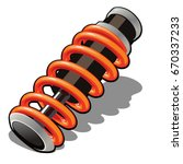 the shock absorber isolated on... | Shutterstock .eps vector #670337233