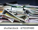 Small photo of Messy file document and Office Supplies in filing cabinets at work office