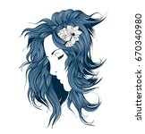 sketch of fashion style. girl... | Shutterstock .eps vector #670340980