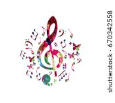 Music Poster With Music Notes....