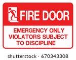 emergency exit  fire... | Shutterstock .eps vector #670343308