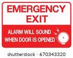 emergency exit  fire... | Shutterstock .eps vector #670343320